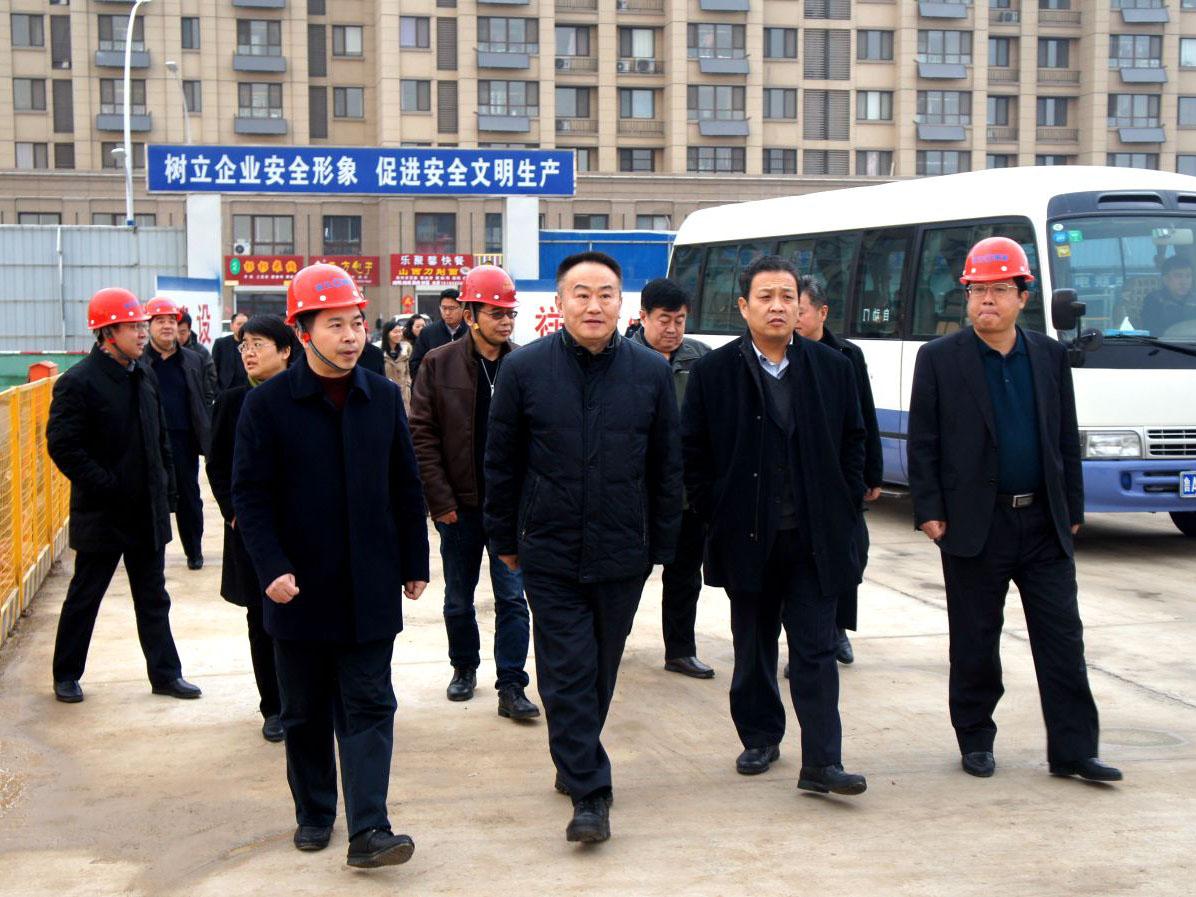 济南市委常委、宣传部长谭延伟一行到祥生·中央华府检查指导安全生产工作