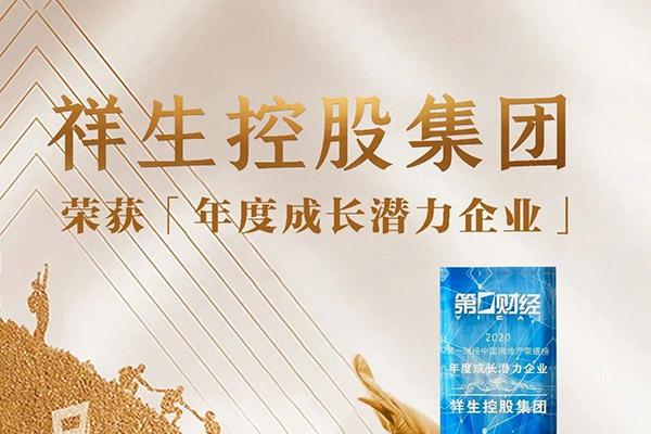祥生控股集团荣获「年度成长潜力企业」