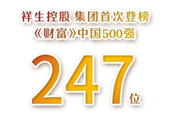 祥生控股集团首次登榜《财富》中国500强