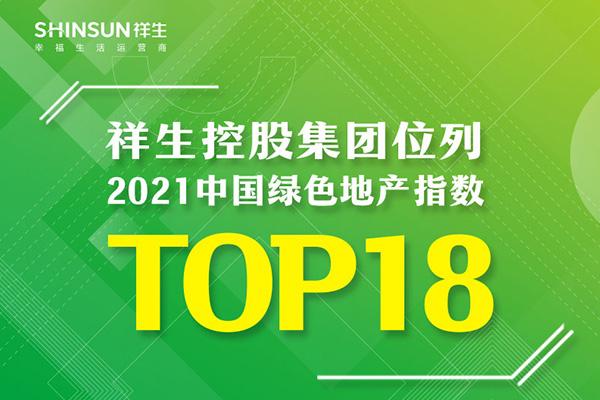 祥生控股集团位列2021中国绿色地产指数TOP18
